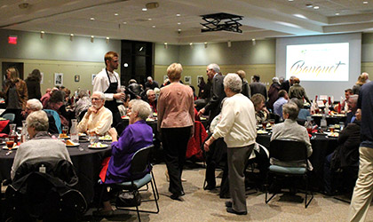 A large crowd of Cowley College donors attended the annual Cowley College Foundation banquet