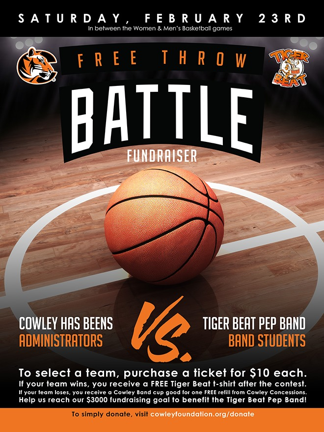 Tiger Beat Pep Band Fundraiser Poster