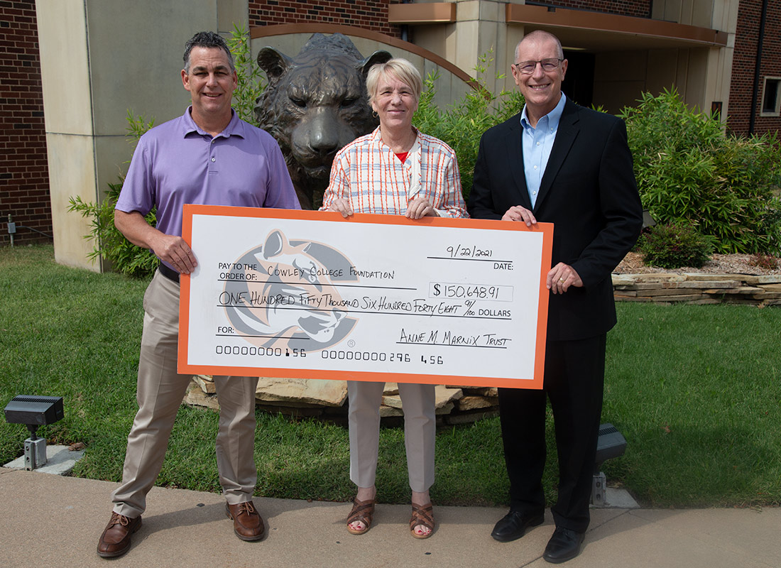 Cowley College Foundation receives $150,000 gift